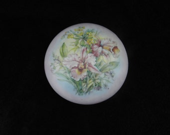 Powder Box: Hand Decorated Porcelain