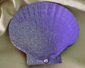 Painted Scallop Shell Soap/Jewelry/Key Dish - Beach Themed Gift Idea