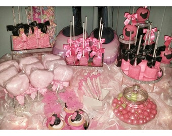 The Whole Shebang Minnie Mouse Dessert Table Candy Buffet 12 of each 84 items total!!