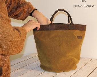 "SALE! Vegan handbag, Suede tote bag, laptop bag 15"", Mustards tote bag, Tote bag for teachers, Work tote bag, Laptop bag for women"