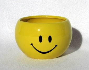 Smile Face Planter - Happy - Sunshiney - Vintage Home Decor