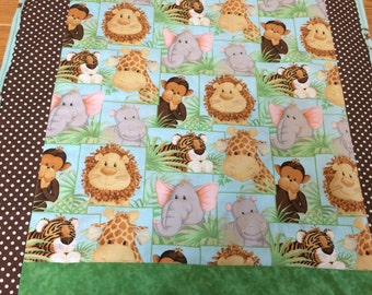Jungle Animals Quilted Blanket