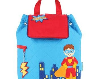 Personalized Stephen Joseph Super Hero Quilted Backpack
