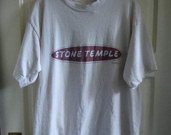 Vintage 90s STONE TEMPLE Pilots Giant Tag T Shirt sz L/XL