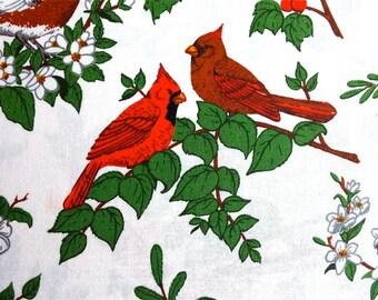 Bird Print Fabric 2 yd x 44 in wide
