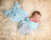 Sky Blue RTS Stretchy Soft Newborn Knit Wraps 80 colors to choose from, photography prop newborn prop wrap