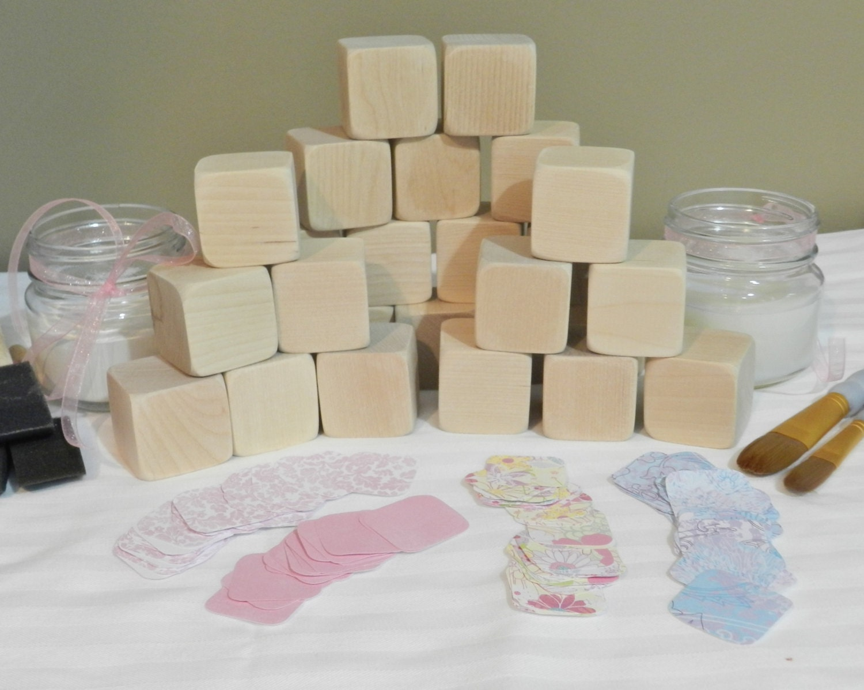 Uncategorized Diy Baby Blocks baby shower diy wooden blocks block decorating kit
