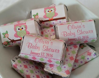 PERSONALIZED Printable Mini Candy Bar Wrappers For Baby Shower   Custom  Made Chocolate Bar Party Favors