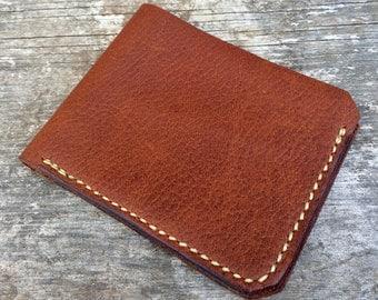 Minimalist wallet, Bifold, Mens leather wallet, Slim leather wallet, Bifold wallet, Black wallet, brown wallet, Tan wallet, The Monroe
