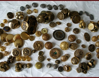 Vintage Metal Button Lot 150+