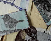 British Birds Origanal Illustration Colection on Recycaled vintage papers SALE