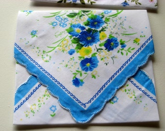 Gift bag or envelope made from vintage linens, sachet holder, jewelry storage, spring clutch  for wedding gifts or as a travel bag