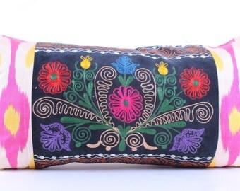 Embroidered,Suzani, Velvet,silk-cotton, Pillow Cover, designed pillows, handmade, art deco pillows, gift pillowcases, decorative pillows