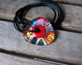 Soul Fire // Sparkling Dichroic // Contemporary Necklace // Murano Glass Jewelry // Creadet in the Fire // 3 dimensional Art to wear
