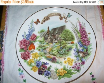 50% OFF Gardens of Beauty collectors Plate, English Country Garden Reco 1988 collector plate, home decor