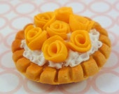1:12 scale Yellow Roses Dessert....handmade.....miniature