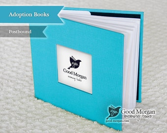 Adopted Baby Memory Book - Electric Blue