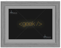 Geek  Programmers Code Technology Geek Photographic Print - Various Sizes - Gift Idea