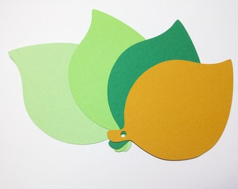 100 paper Leaves Die Cut 4'' inches,Wedding Place Cards, in four different colors!