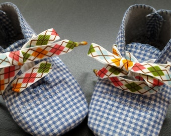 Gingham and Argyle Baby Shoes