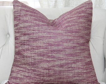 Zimmer and Rohde Pillow Cover - Purple Gray and Beige Designer Pillow - Purple Geometric Pillow - Cushion - Toss Pillow - Zimmer & Rohde