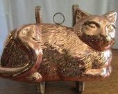Vintage Copper-Tone Cat Mold