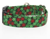 Christmas Dog Collar, Xmas Dog Collar, Dog Collar, Adjustable Dog Collar, Snowflake Dog Collar
