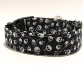 Skulls Dog Collar, Halloween Dog Collar, Skulls, Halloween, Dog Collar, Adjustable Dog Collar