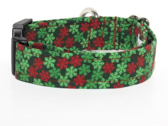 Christmas Dog Collar, Xmas Dog Collar, Dog Collar, Adjustable Dog Collar, Snowflake Dog Collar