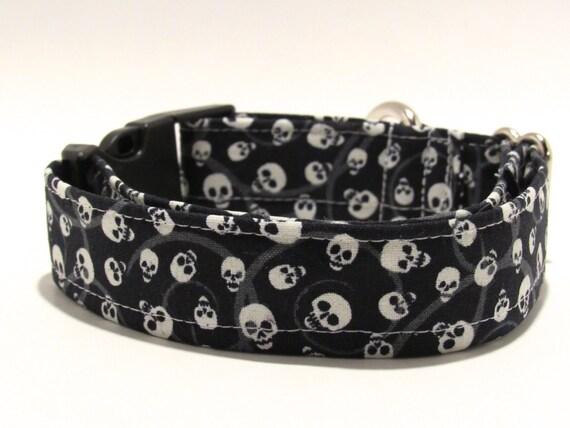 Skulls Dog Collar, Halloween Dog Collar, Skulls, Halloween, Dog Collar, Adjustable Dog Collar