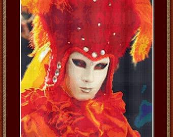 Carnival Costume Cross Stitch Pattern