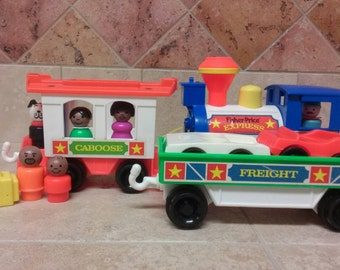 Vintage Fisher Price Little People Express Train