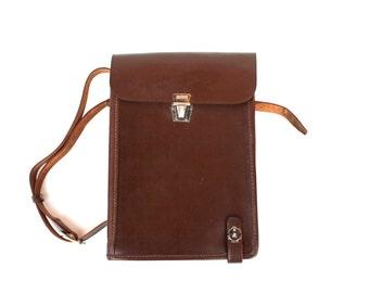 Messenger bag Soviet map bag Military bag Genuine leather messenger bag Unisex bag Soviet army bag 1981 Tablet bag Cool laptop bag