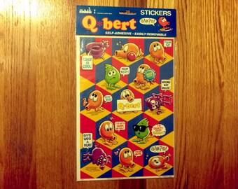 SALE Rare Vintage 1983 Qbert Q bert Sticker sheets Mark 1 Factory Sealed Scrap booking