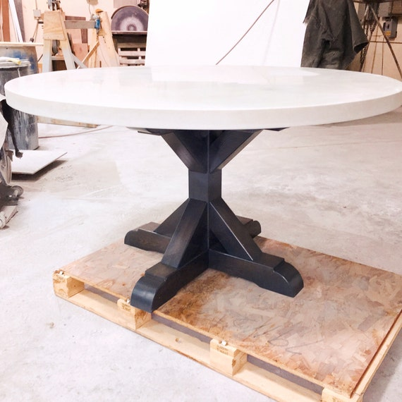 concrete dining table by 910castings on etsy. Black Bedroom Furniture Sets. Home Design Ideas