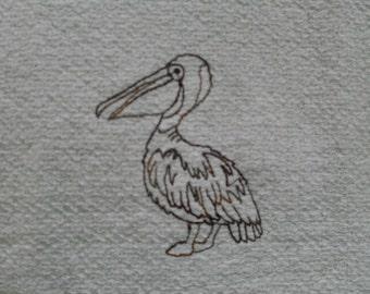 Pelican dish towel