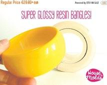 ON SALE, 10 % OFF Chunky bangle Mold 3 cm tall, flexible silicone mold for resin,bangle maker mold