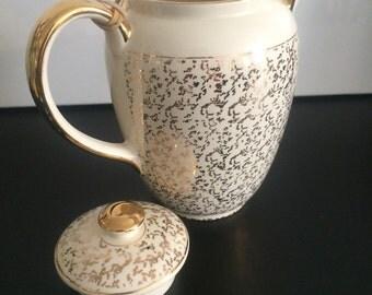 Villeroy & Boch coffee pot Vintage gold