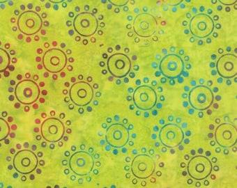 Hometown Girl Batiks by Pat Sloan for Moda Fabrics 43067 04 Lime Circle