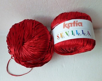 Yarn Sale  Scarlet 35  Sevilla by Katia