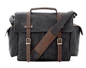 Camera Bag / School Bag / Messenger Bag / Shoulder Bag / Crossbody bag / Handbag / Travel Bag / Briefcase / DSLR Bag / Gray Canvas / TRAIL