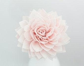 "5 - 3"" Wooden Dahlia Flowers on Stems, Blush Sola Flowers, Flower Stems, Blush Artificial Flowers, Bouquet Flowers"