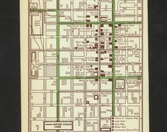 Vintage Map Salt Lake City Utah Original 1951