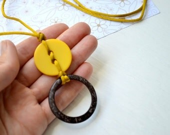 SALE Coconut ring,Nursing pendant,Yellow Breastfeeding necklace,Teething button necklace,Sling accessory,Shower gift,Multicolor Choose color