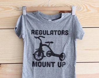 Funny Kids Gifts. Funny Kids Clothes. Funny Gift for New Mom. GREY REGULATORS Mount Up Toddler Shirt. Baby Shower Gift for Mom.