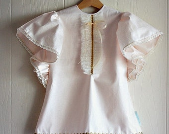 Pink & Gold Ketch Dress Girls Toddler Baby Dress or Tunic with Lace and Ruffles