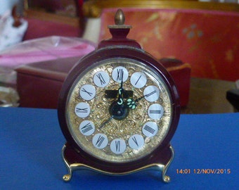 """Alarm Clock """"Melux"""" - Vintage Mechanical Watch Made in West Germany"""