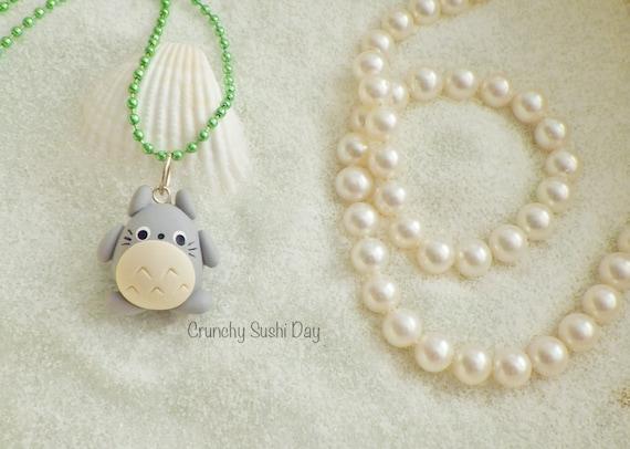 Totoro Charm, Totoro Polymer Clay Pendant, Totoro necklace, polymer clay, clay pendant, Kawaii, Chibi, Clay Charm