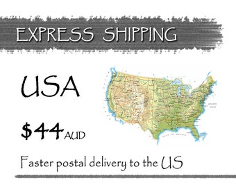 EXPRESS INTERNATIONAL Upgrade • 44 Australian Dollars • Faster Postal Delivery Time for US Only