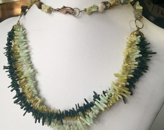 Soft Sage Green Coral and Stone